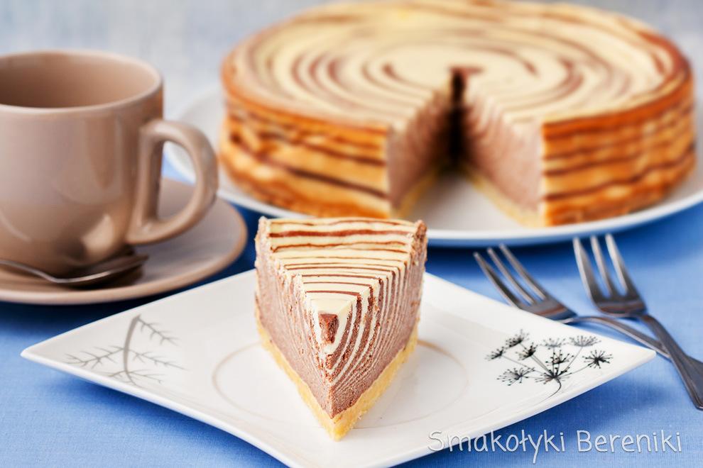 Sernik waniliowo-kakaowy w paski