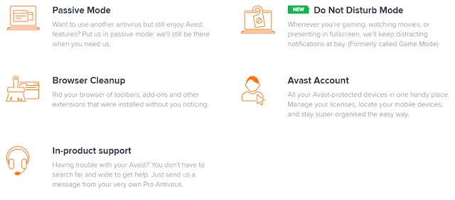avast pro features