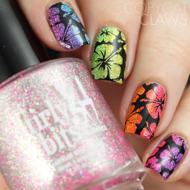 UberChic Beauty Vacation Mode nail stamping
