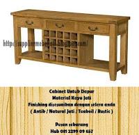 Jual Mebel Jati Meja Cabinet Untuk Dapur