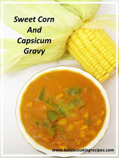 sweet corn capsicum gravy