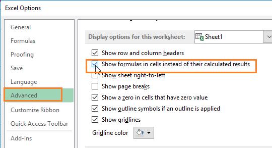 Cara Menampilkan Rumus Excel 2007,2010,2013,2016