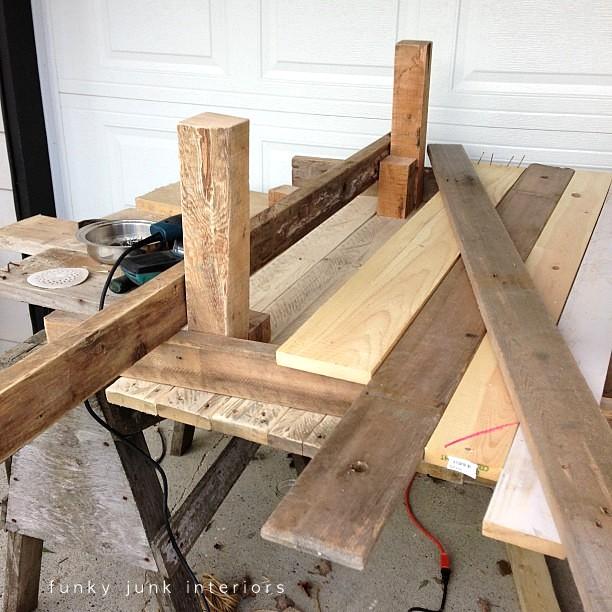 pallet wood build via Funky Junk Interiors