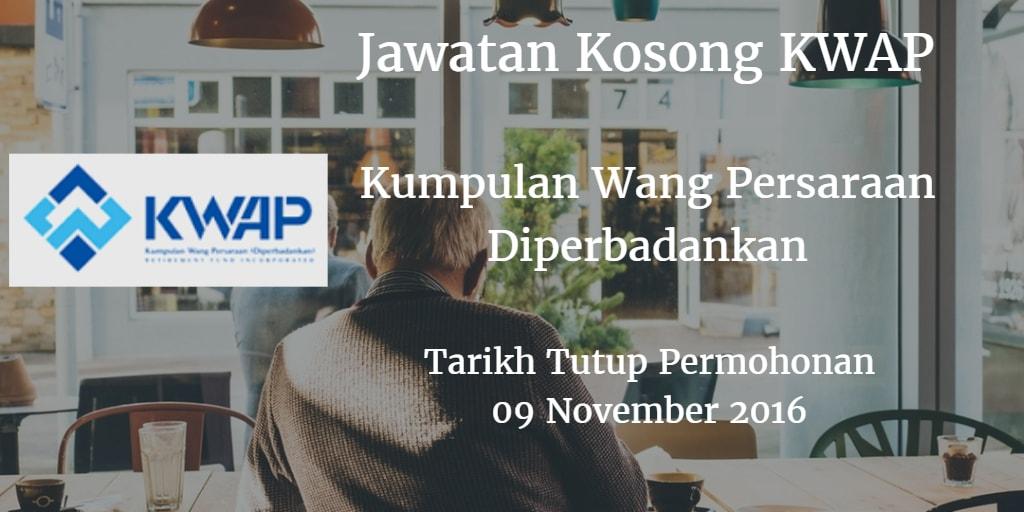 Jawatan Kosong KWAP 09 November 2016