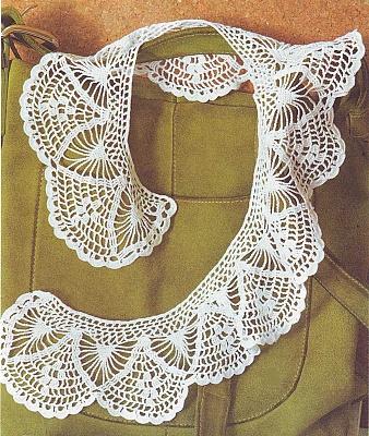 Patrón #844: Cuello para Blusa a Crochet