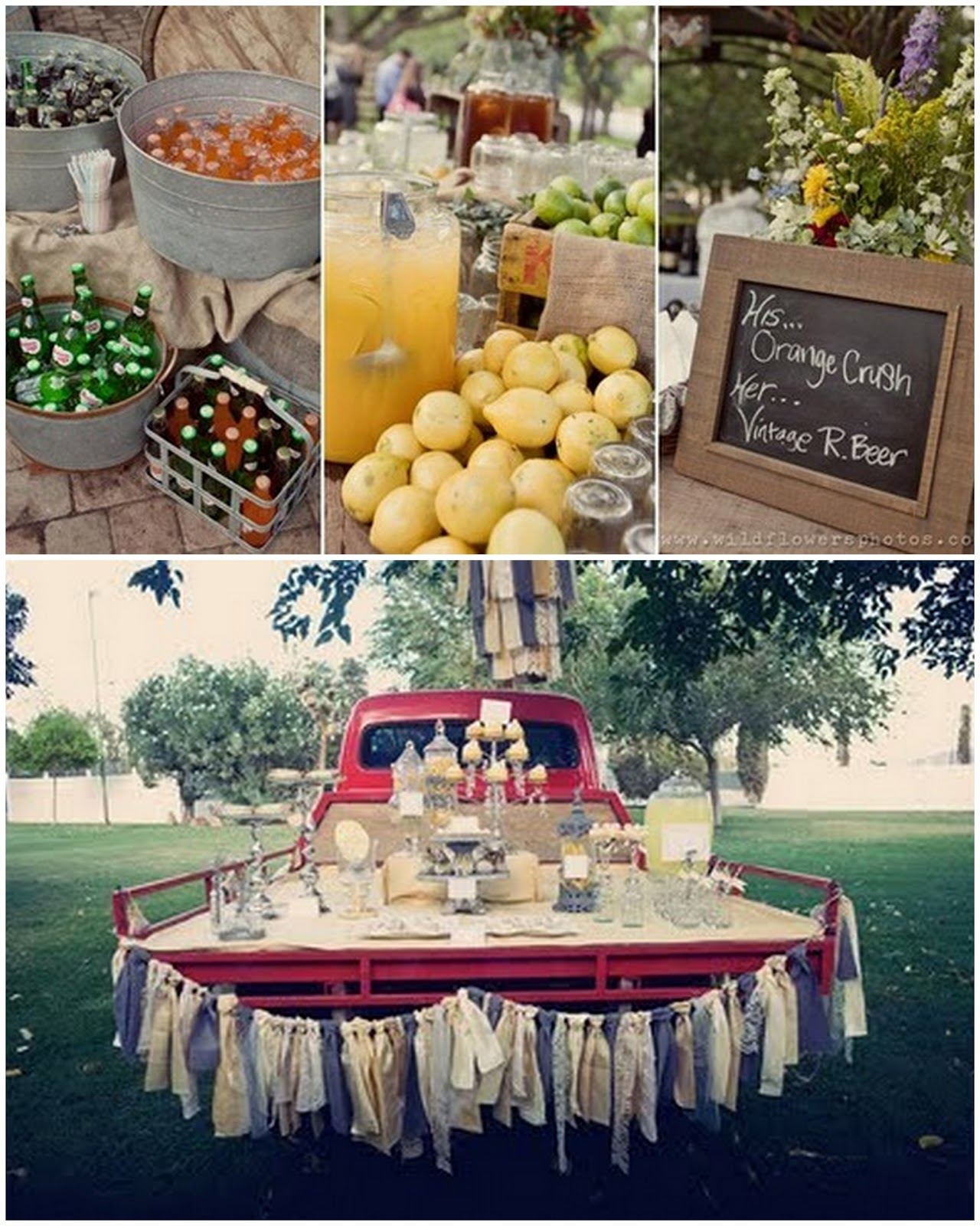 Wedding Drinks Ideas: Blue Mason Jar Studio: {Bright Idea Thursday} Signature Drinks