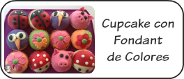 Cupcakes con fondant de colores