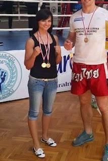 k-1, Kick light, kickboxing, Magdalena Józak, Mistrzostwa Polski Służb Mundurowych, policja, PZKB, sport, Zielona Góra