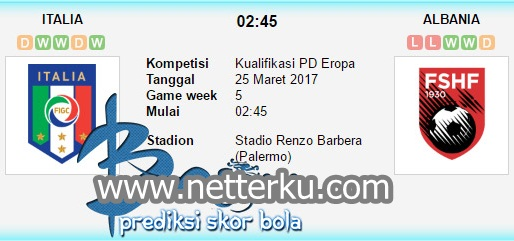 Italia vs Albania 25 Maret 2017 - Netterku.com
