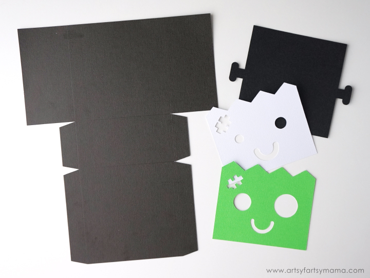 Halloween Frankenstein Character Treat Bag made with Cricut Maker #CricutMade