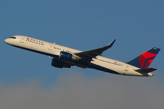 Delta Air Lines flight departs Seattle-Tacoma International Airport SEA