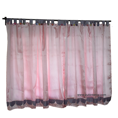Pink Satin Bedroom Curtains for girls, teenagers in Port Harcourt, Nigeria