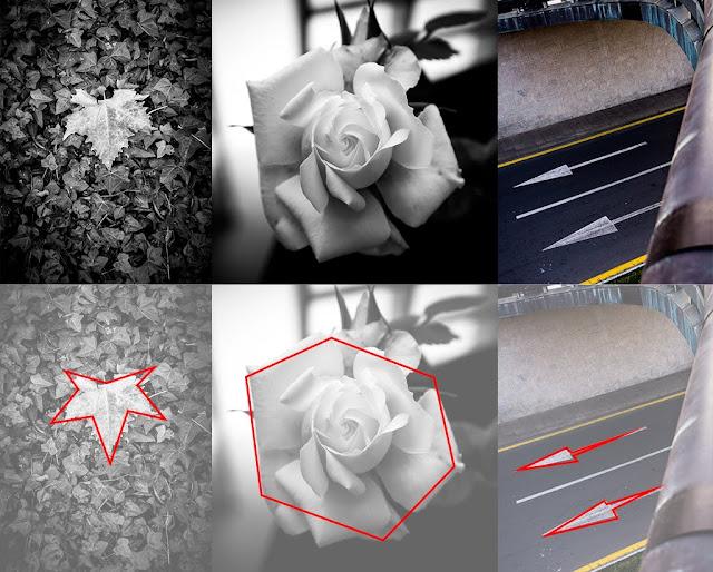 Formas geométricas en composición fotográfica