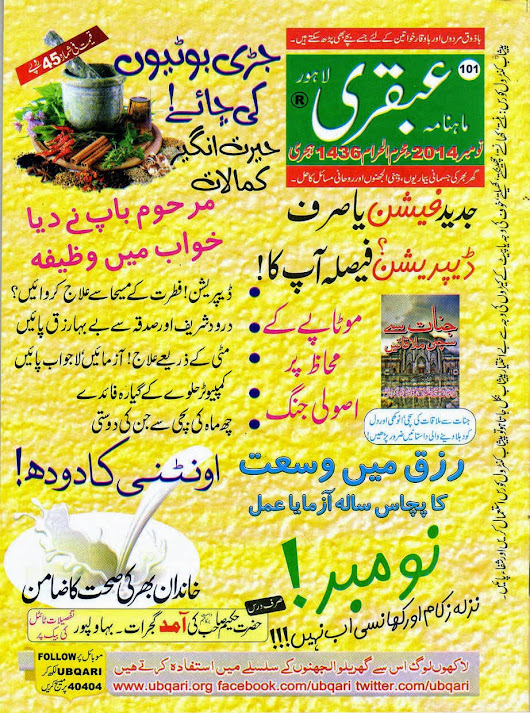 Ubqari Magazine November 2014 Read Online