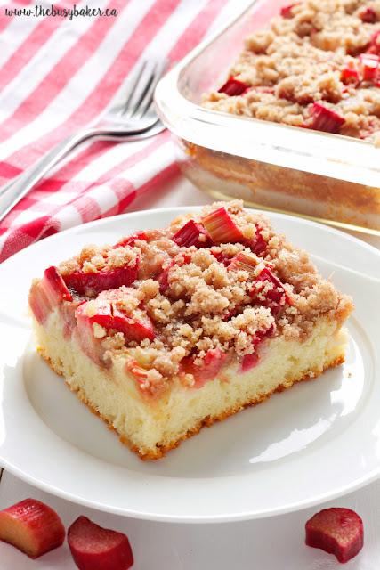 Rhubarb Streusel Cake www.thebusybaker.ca