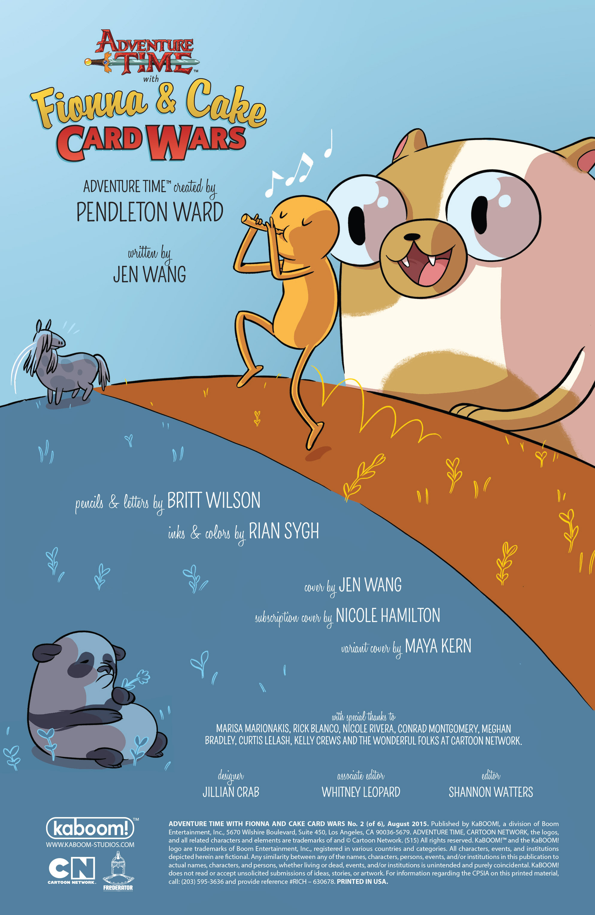 Read online Adventure Time Fionna and Cake Card Wars comic -  Issue #2 - 2