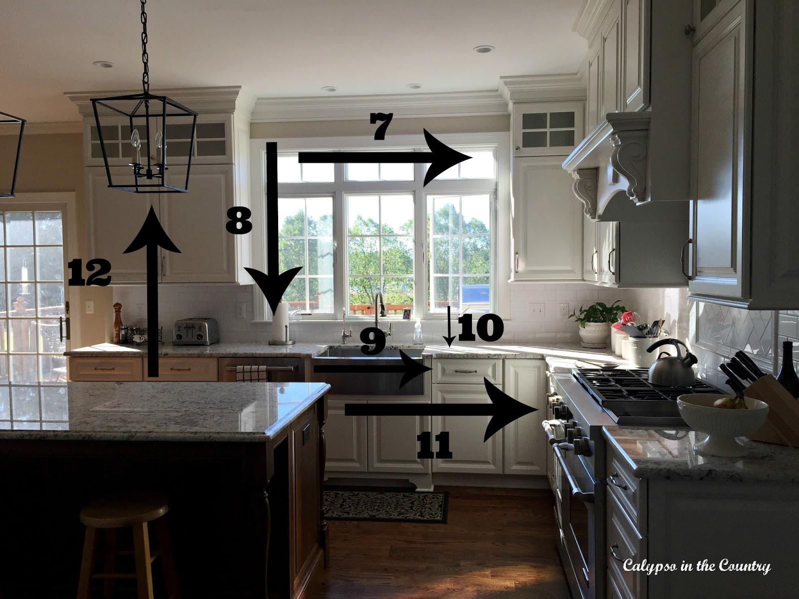 Kitchen Measurements after remodel