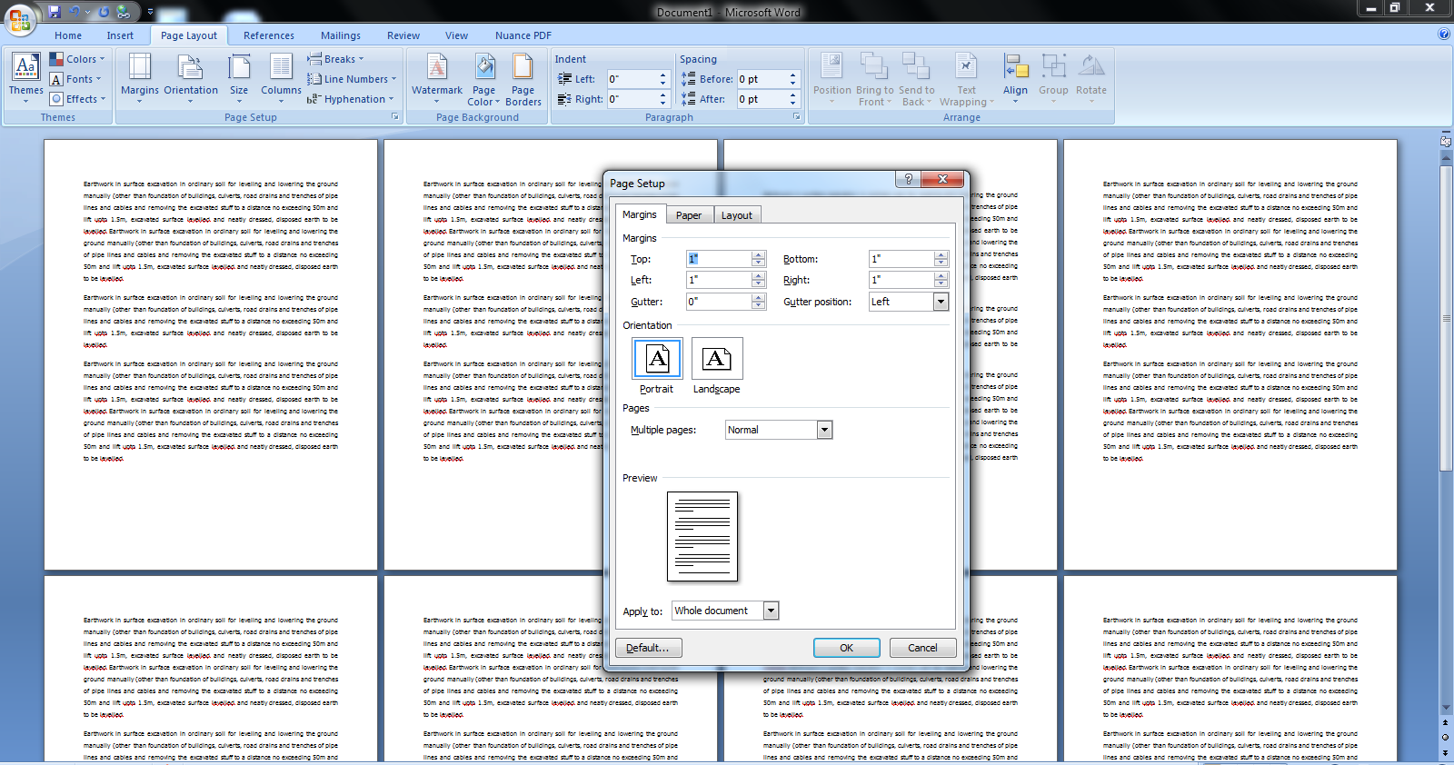 Learn New Things: MS Word Page Setup Shortcut Key For All