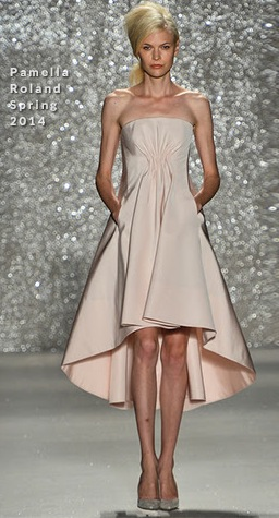 Then & Now ~ Strapless Blush A-line Gown