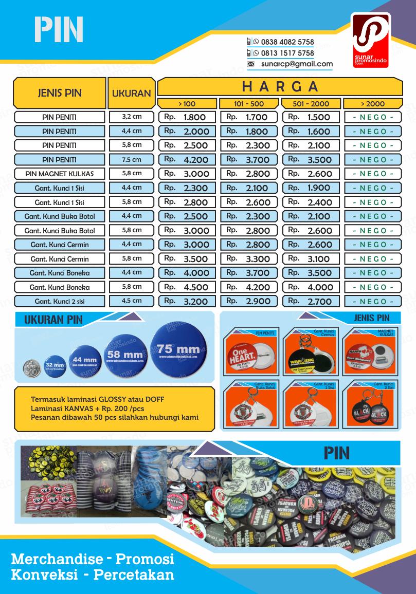 harga pin murah, order pin online, gantungan kunci murah