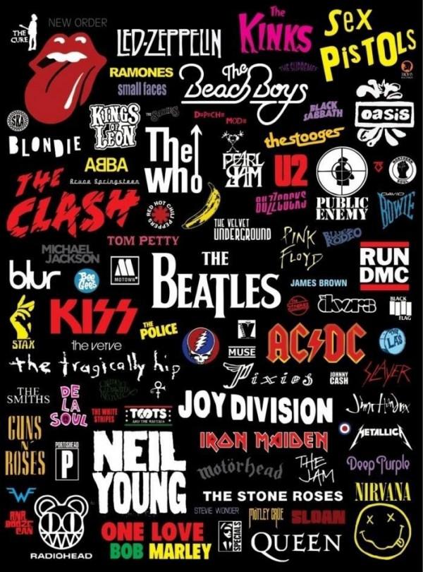logos das grandes bandas de rock