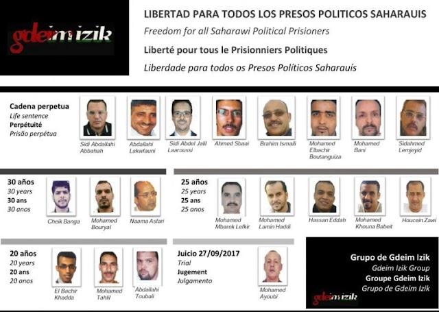 Diciembre saharaui: 2017, un año más de represión y violación de los Derechos Humanos