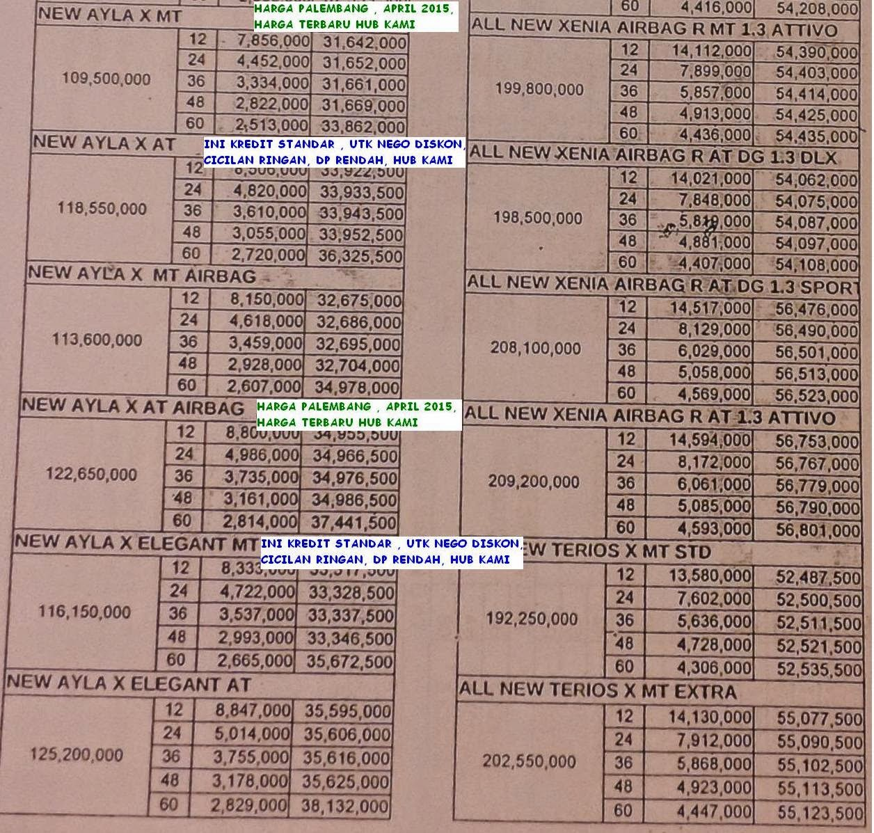 brosur kredit daihatsu palembang