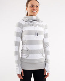 lululemon stay on course pullover silver spoon stripe