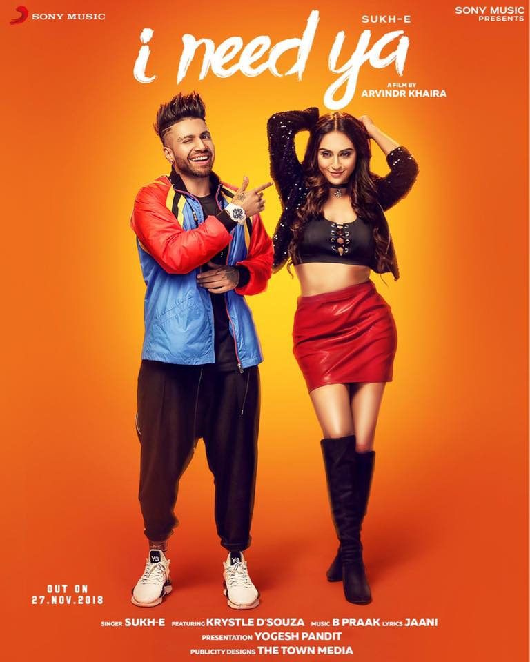 Need Ya Feat Krystle D Souza Dawnloadsong: I Need Ya Punjabi Song Lyrics - Sukhe