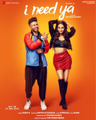 I Need Ya Lyrics - sukhe Ft. Krystle D'souza