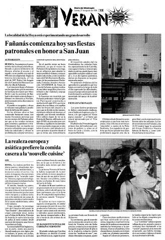 Fañanás comienza hoy sus fiestas patronales en honor a San Juan