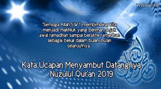 Kata Ucapan Menyambut Nuzulul Quran 2019