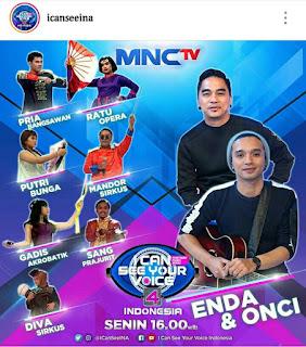 I can see your voice indonesia season 4 tanggal 14 januari, lagu yang dinyanyikan pria bangsawan, lagu yang dinyanyikan gadis akrobat,