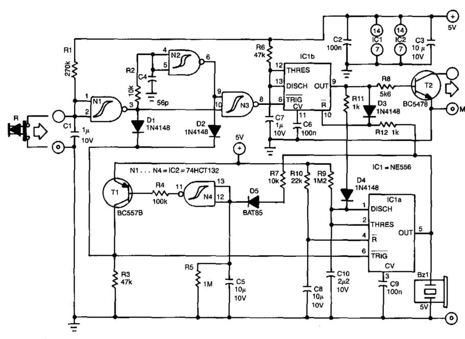 Simple Reset Protection For Computers Circuit Diagram