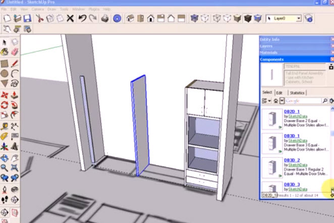 Dynamic Component Cabinets Sketchup Kitchen Design Graphic Cad Draiwng