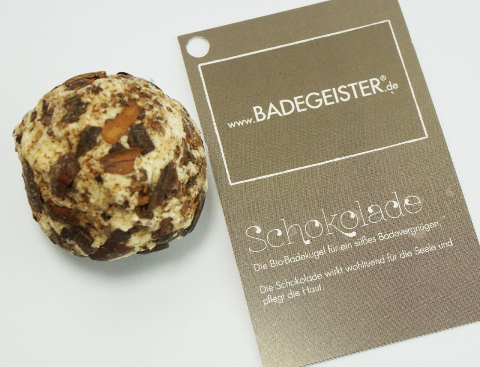 Badegeister - Bio-Badekugel Schokolade