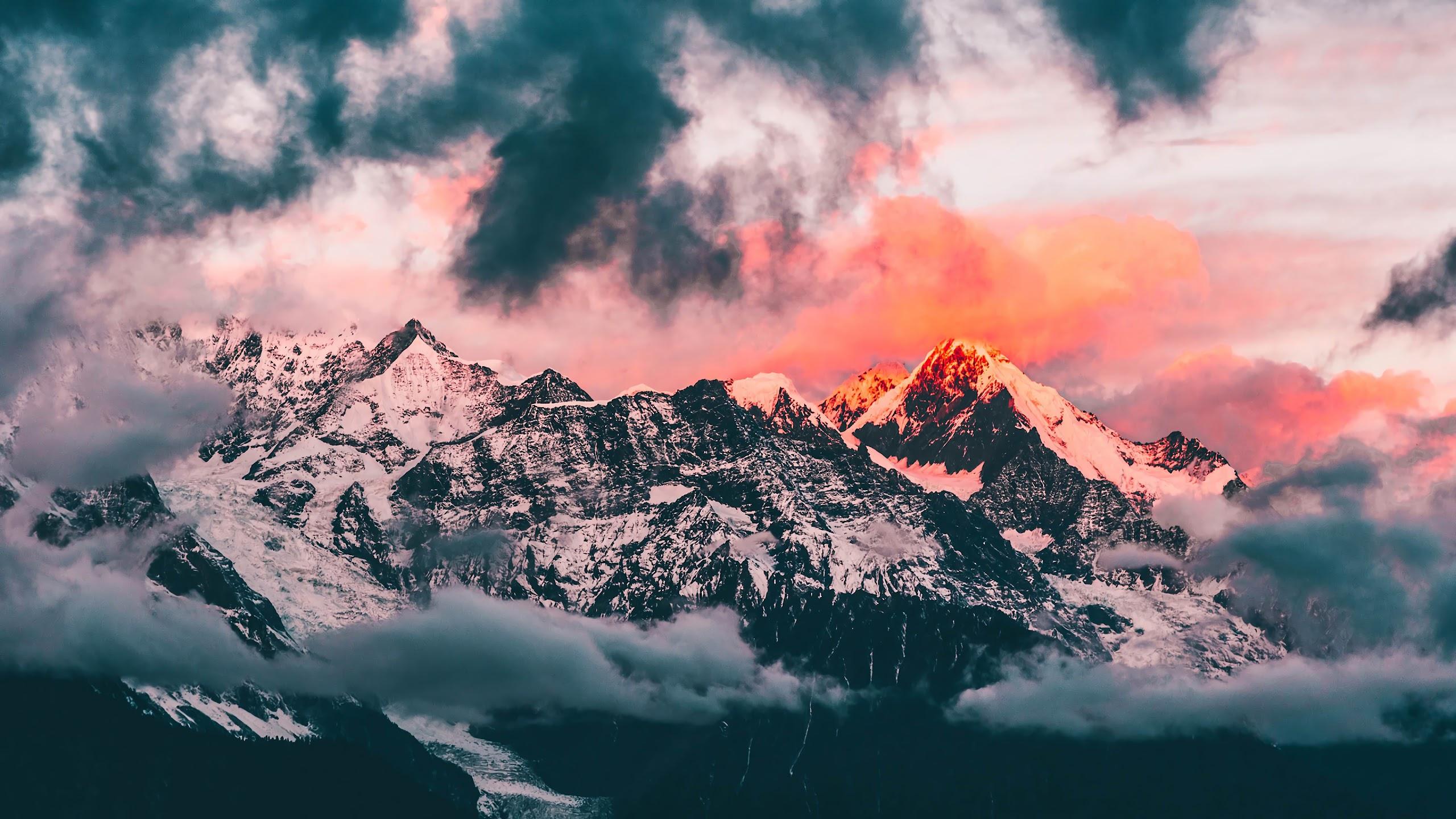 Mountain Clouds Landscape Scenery 4k Wallpaper 165