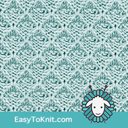 Slip Stitch Knitting 23: Trellis | Easy to knit #knittingstitches #knittingpattern