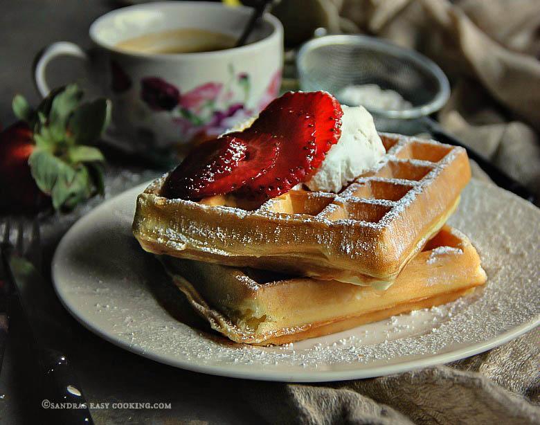 Simple Belgian Waffles #recipe #homemade