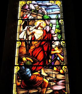 Vitral da Catedral de Santa Maria - Cristo Ressuscita