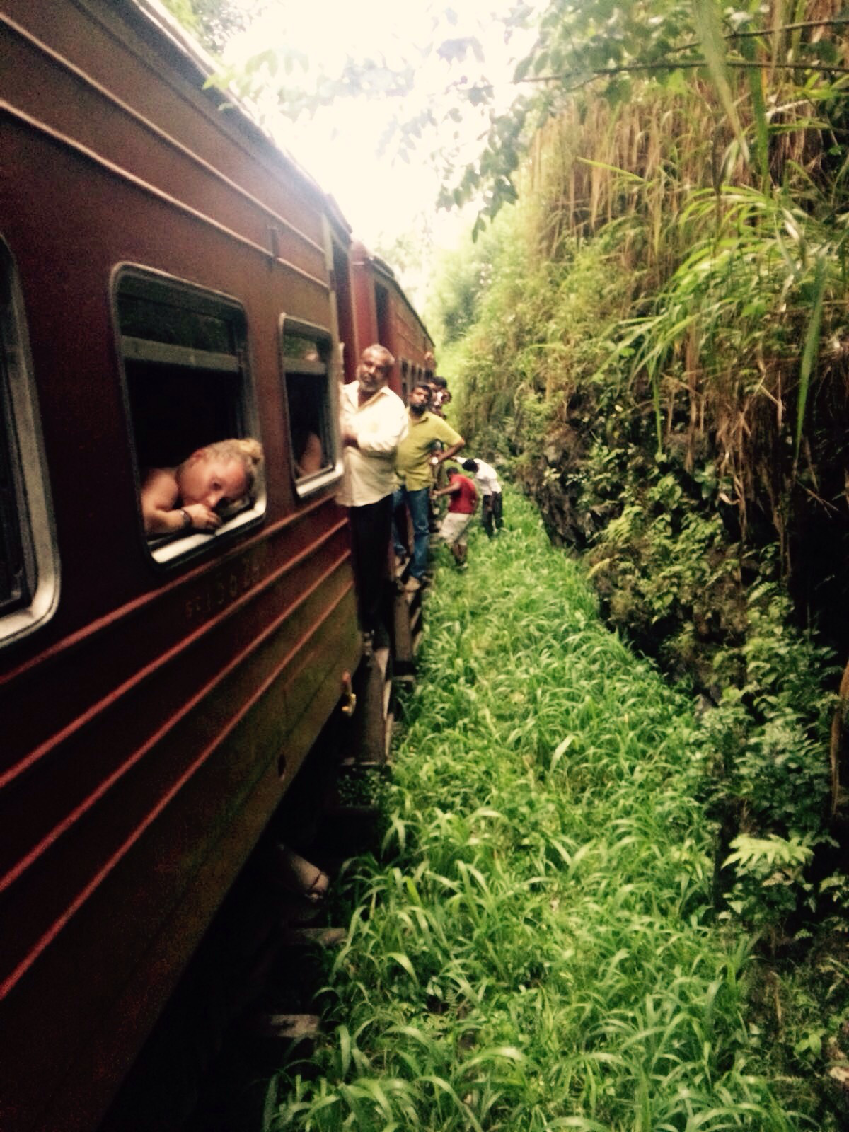 Broken down train in Sri Lanka