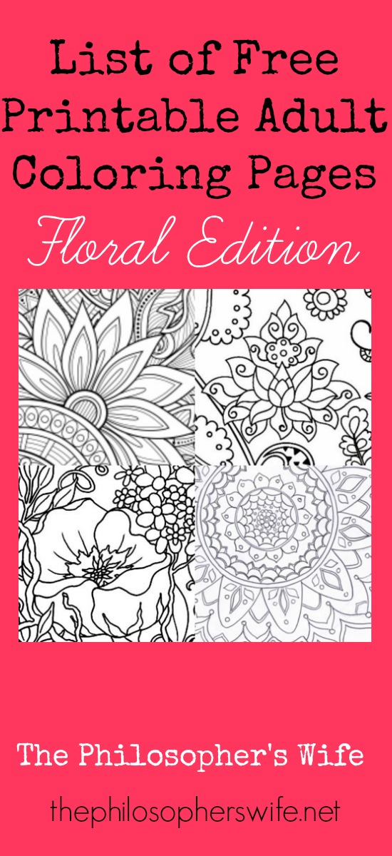 The Philosopher\'s Wife: List of Free Printable Adult Coloring ...