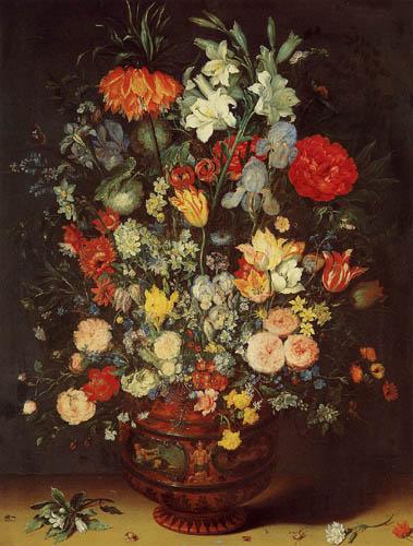 Resultado de imagen de Jan Brueghel el Viejo. Ramo de flores (Bouquet of flowers).