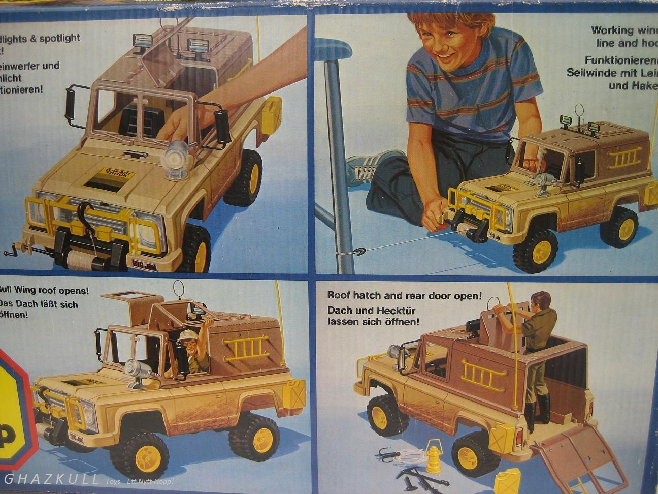 toys ett nytt hopp big jim safari truck 1978. Black Bedroom Furniture Sets. Home Design Ideas