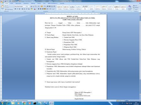 Arsip Kantor Download File Dokumen Gratis Berita Acara Rapat Ukk