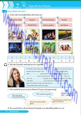 9. Sınıf Almanca A1.1 Ders Kitabı Cevapları Sayfa 72