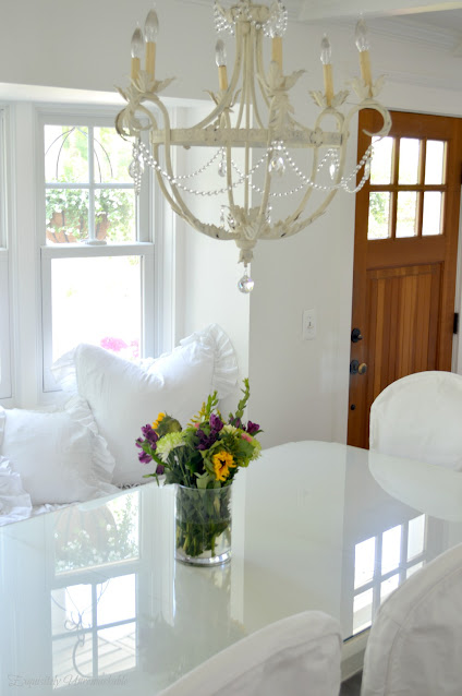 Shabby white table and chairs