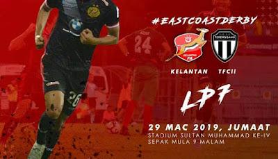Live Streaming Kelantan vs Terengganu FC II Liga Premier 29.3.2019