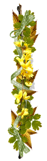 adorno floral, flores, amarilla, separador