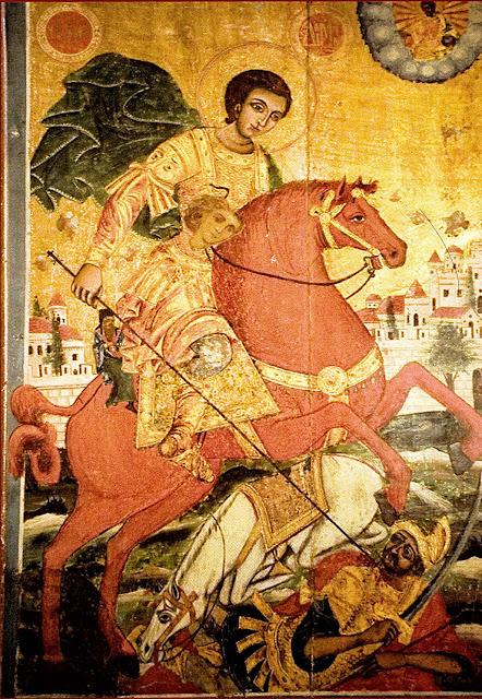 Γιατί ο Άγιος Δημήτριος παρουσιάζεται καβαλάρης σε κόκκινο άλογο;